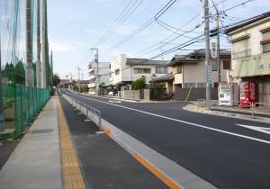 松姫通り道路改修工事