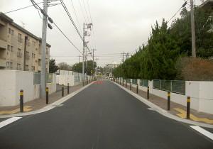 市道八王子11号線道路改修工事