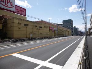 万葉けやき通り道路改修工事